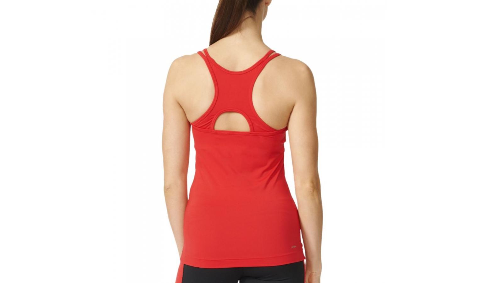Dámske športové tielko adidas BASIC STRAPPY červené  1e2341dc06f