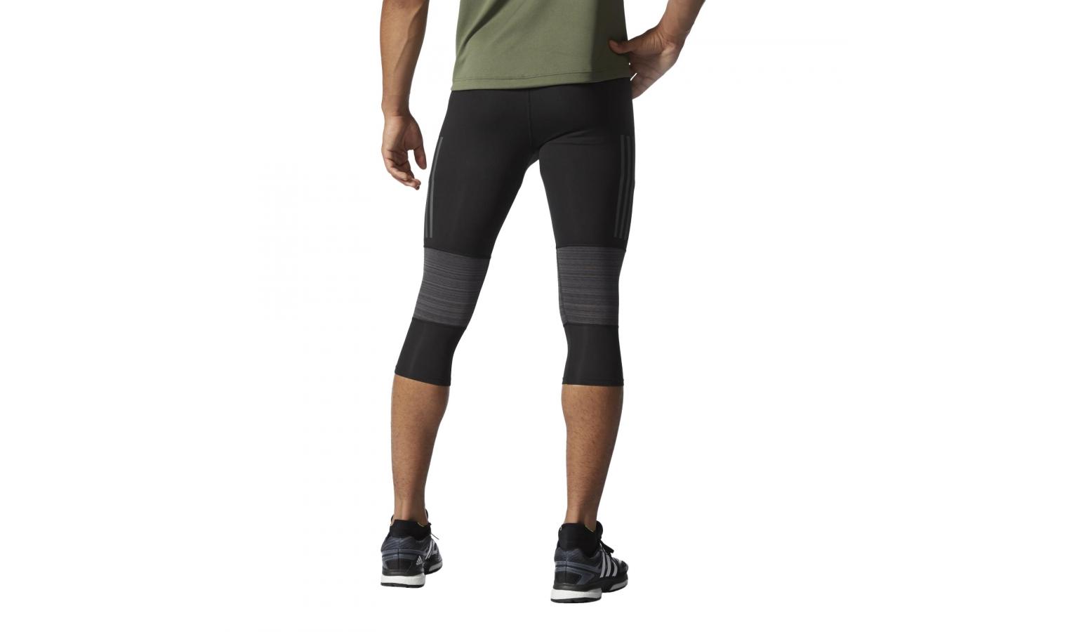 a83287352b32 Pánske bežecké elastické nohavice adidas SN 3 4 TIGHT M čierne