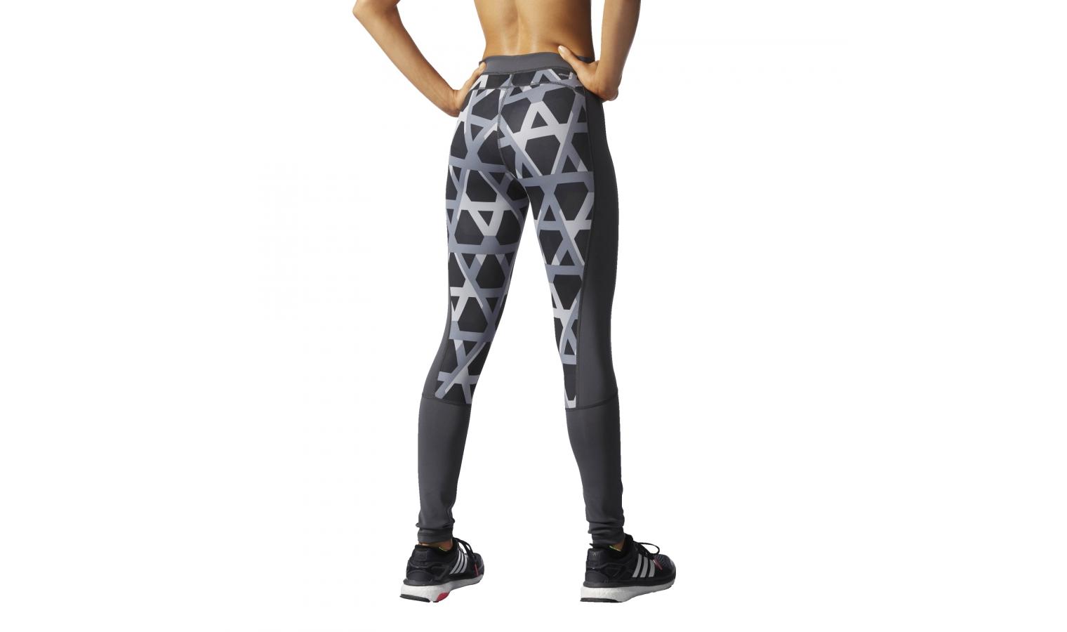 33f18cfa99684 Dámske športové legíny adidas TECHFIT LONG TIGHT PRINT šedé | AD ...