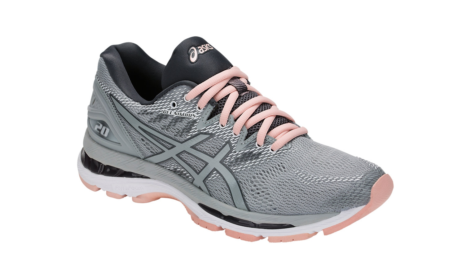 Dámske bežecké topánky Asics GEL-NIMBUS 20 W šedé  d2fa69b2857