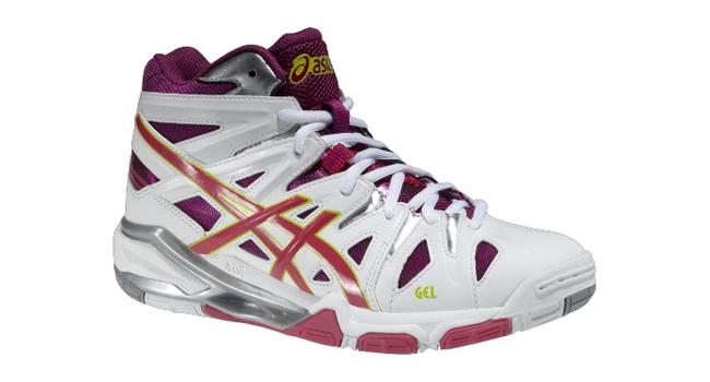 Dámske volejbalové topánky Asics GEL-SENSEI 5 MT biele   ružové  22dfb1ed03f