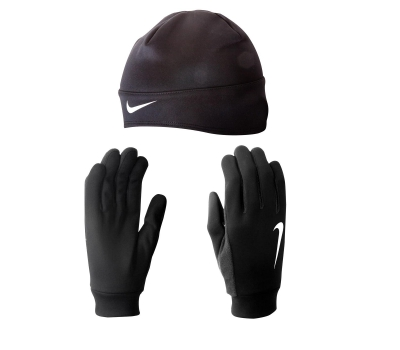 Nike DRI-FIT MEN'S RUNNING BEANIE/GLOVE SET