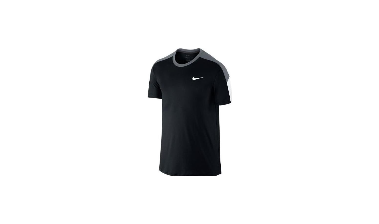 7005afa194f2 Pánske tenisové tričko Nike TEAM COURT CREW čierne