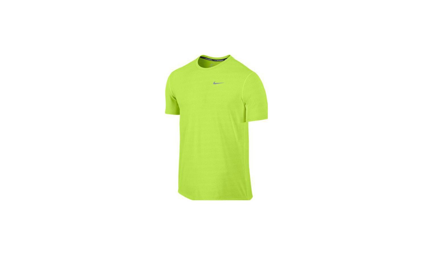 452b72b8a6ef Pánske bežecké tričko Nike DRI-FIT CONTOUR žlté