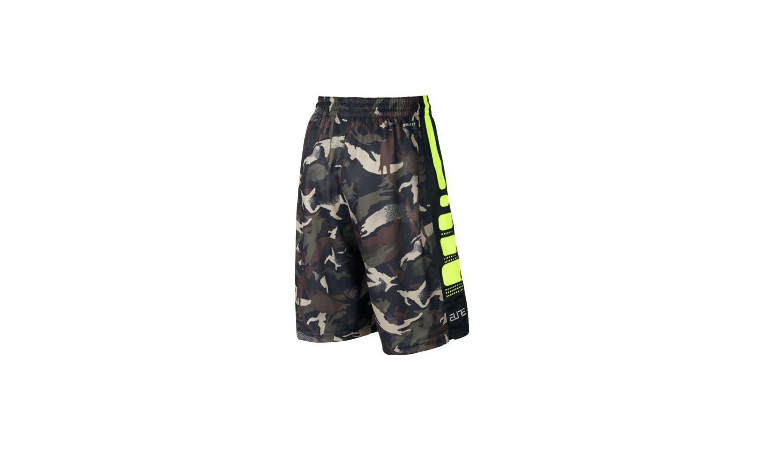 ec05b30a8380 Pánske športové kraťasy Nike ELITE STRIPED CAMO čierne