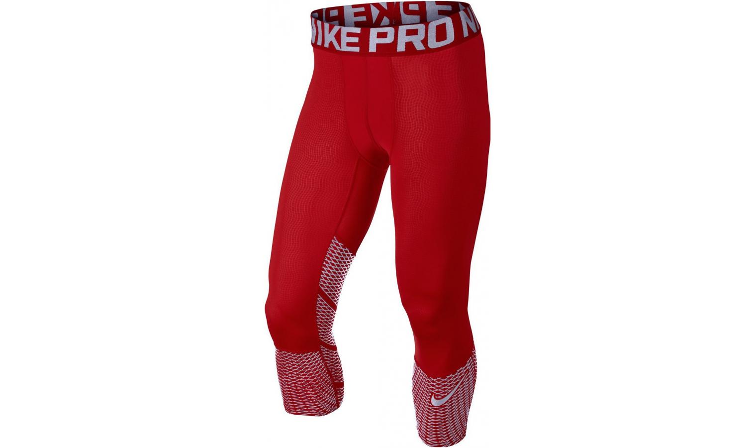 11a998e7826a Pánske funkčné nohavice Nike HYPERCOOL MAX 3 4 TGT červené