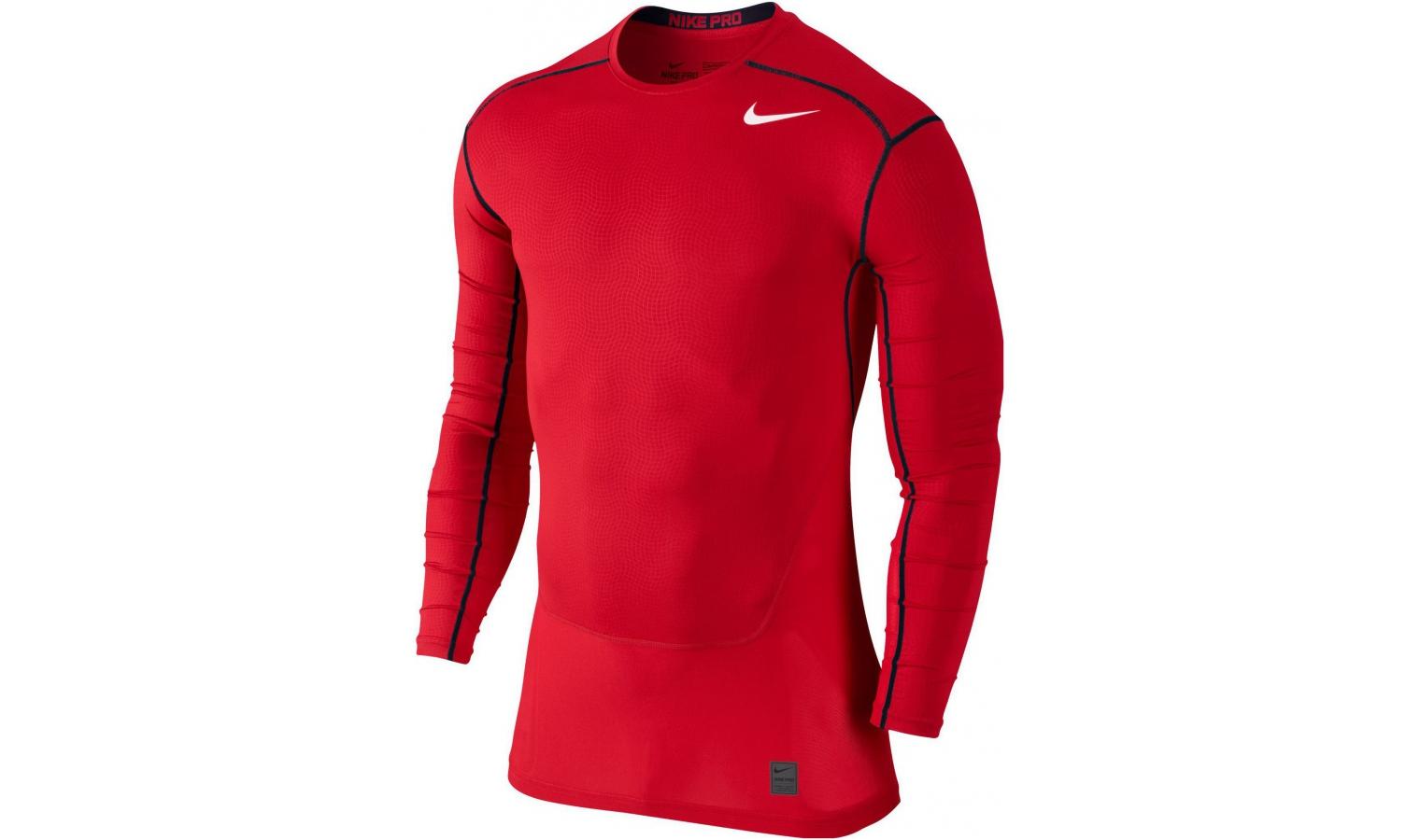 bcf98be6405d Pánske termo tričko Nike PRE HYPERCOOL COMPRESSION CREW červené