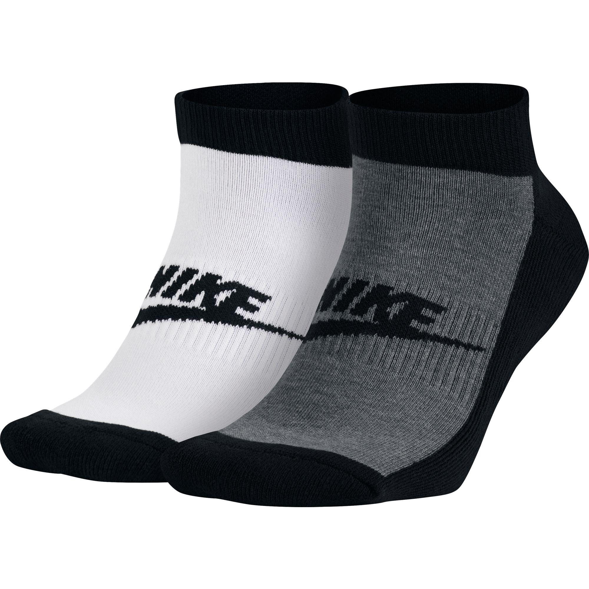 d3240634424 Pánske ponožky Nike GRAPHIC NO SHOW SOCKS (2 PAIR) sivé